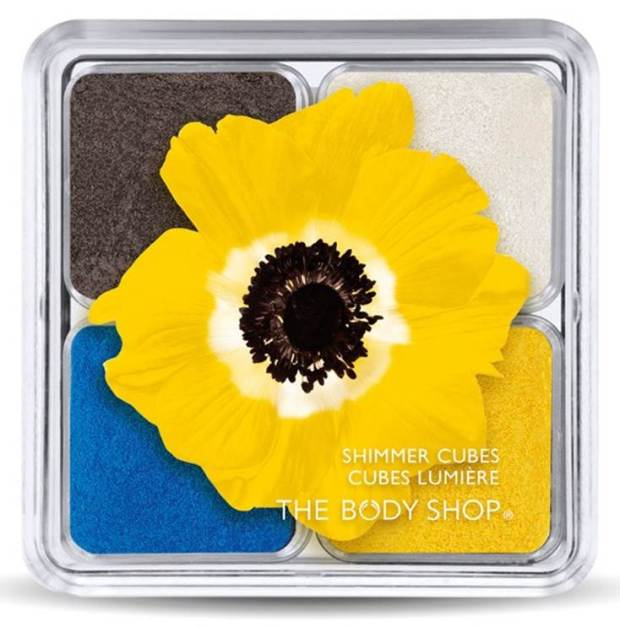 Yellow Poppy Shimmer Cubes - $22