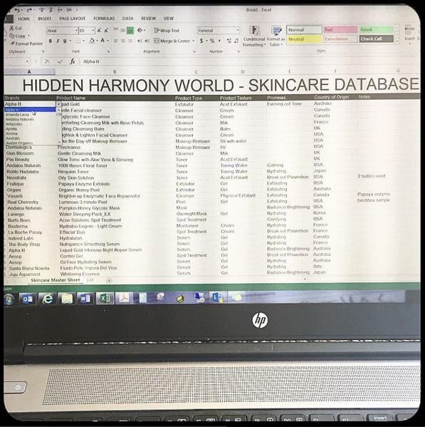 skincare database